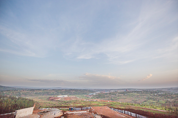 View from window of future CMU-Africa campus