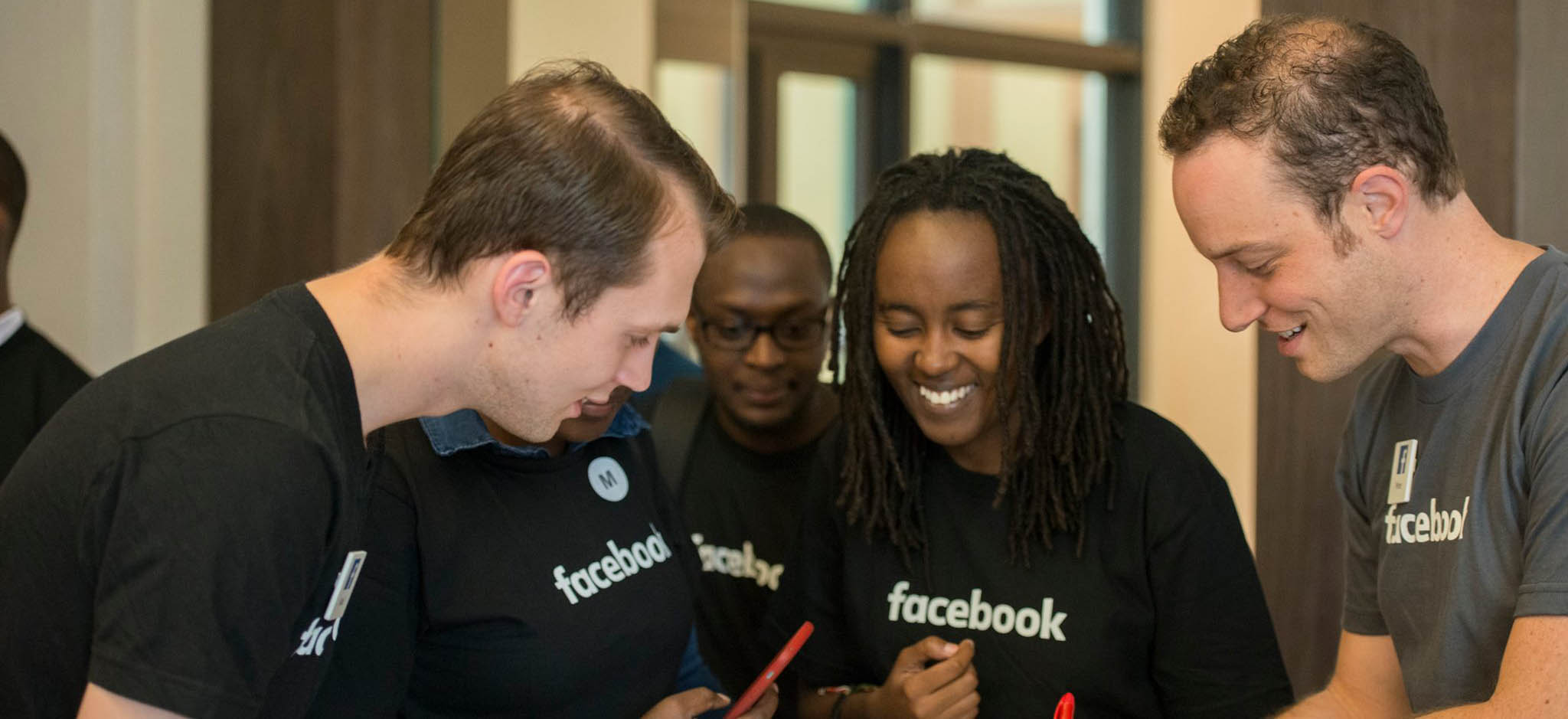 Facebook engineers with CMU-Africa students